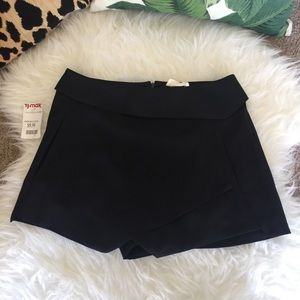 NWT Black Asymmetrical Shorts/Skort